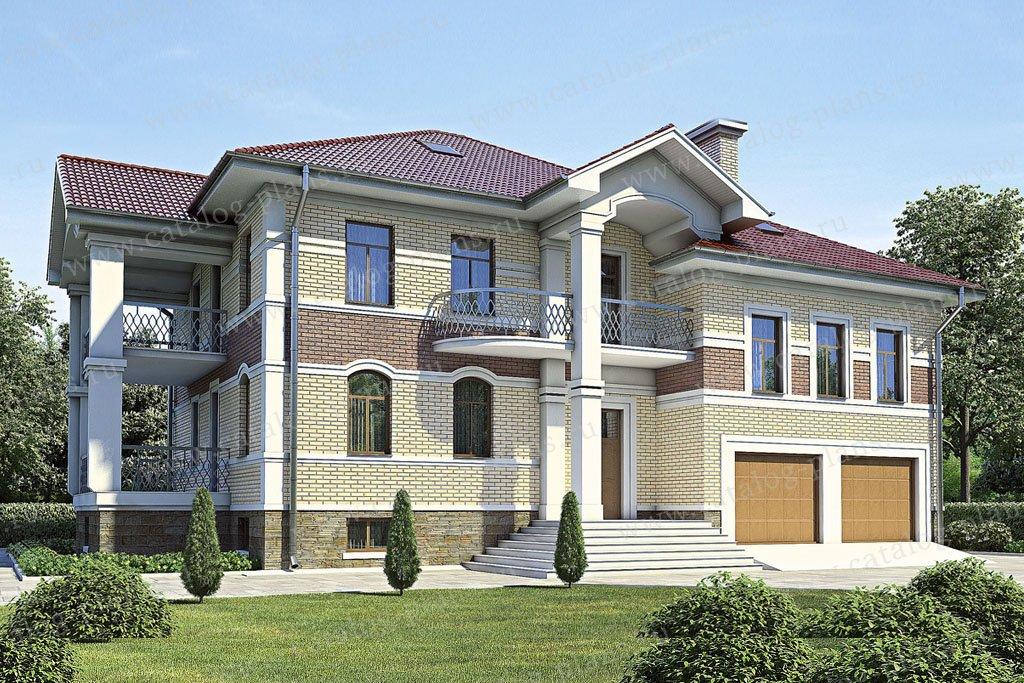 Проект жилой дом #35-82 материал - кирпич, стиль американский
