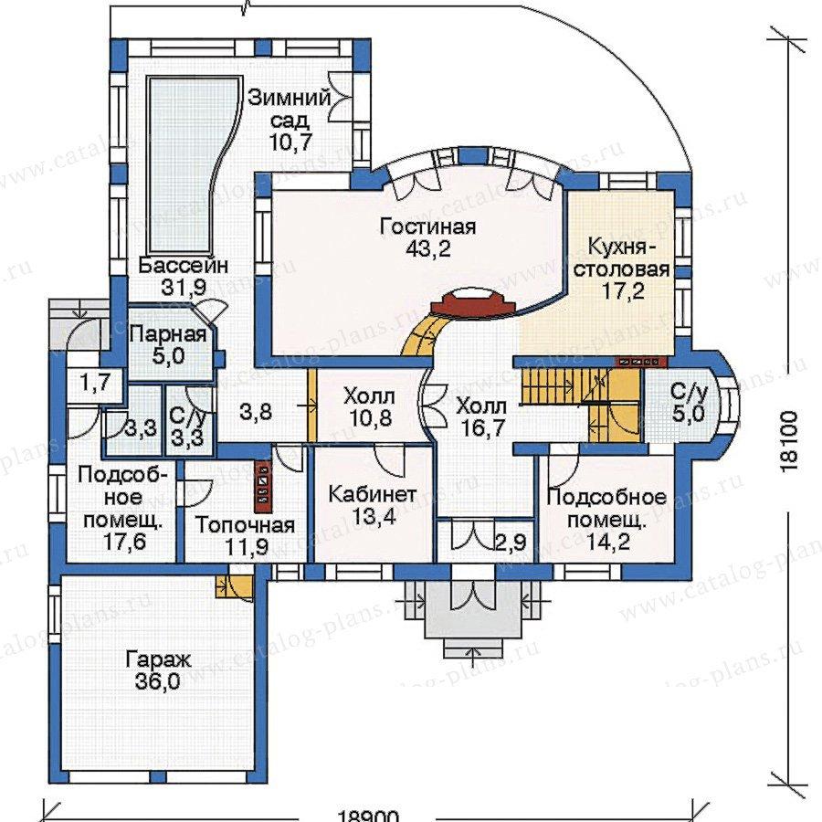 План 2-этажа проекта 35-64