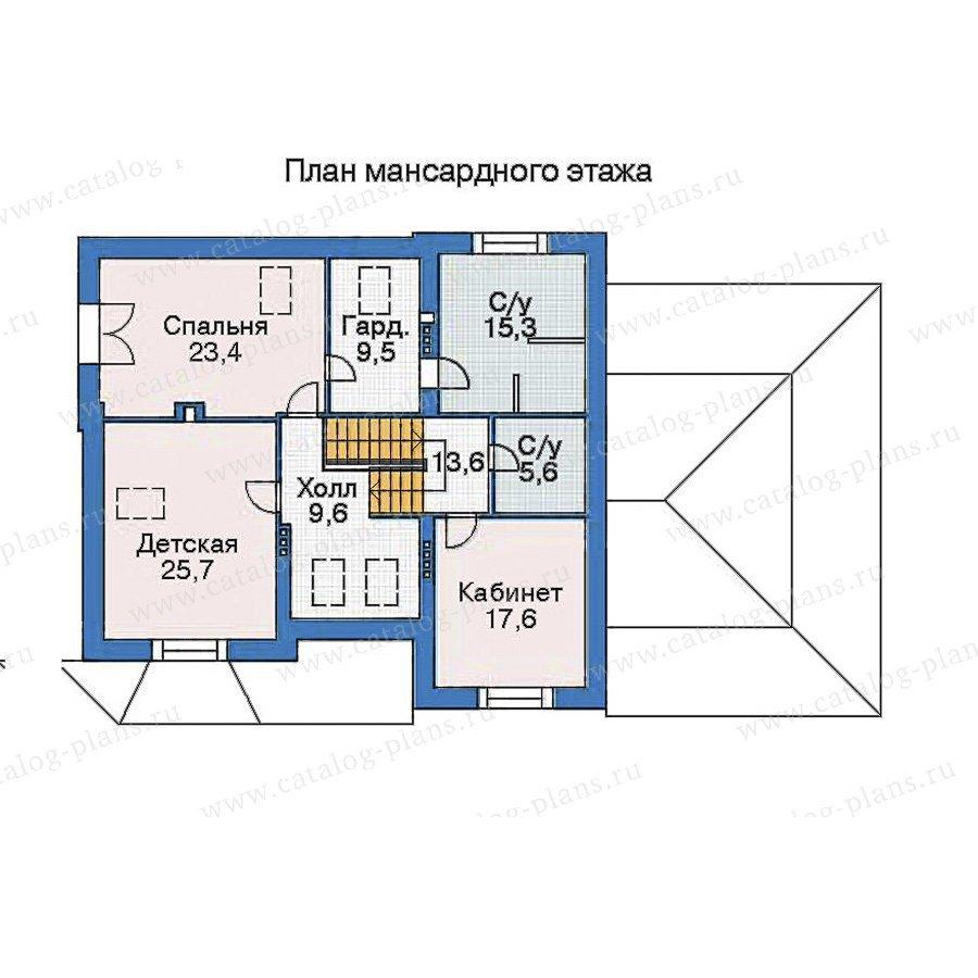 План 3-этажа проекта 35-91