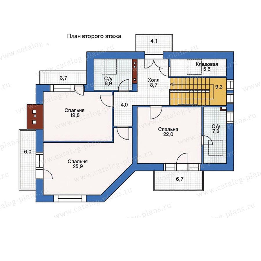 План 2-этажа проекта 35-84