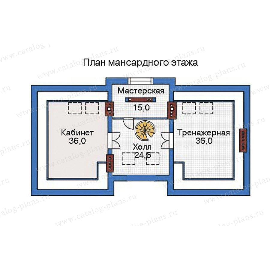 План 4-этажа проекта 35-80