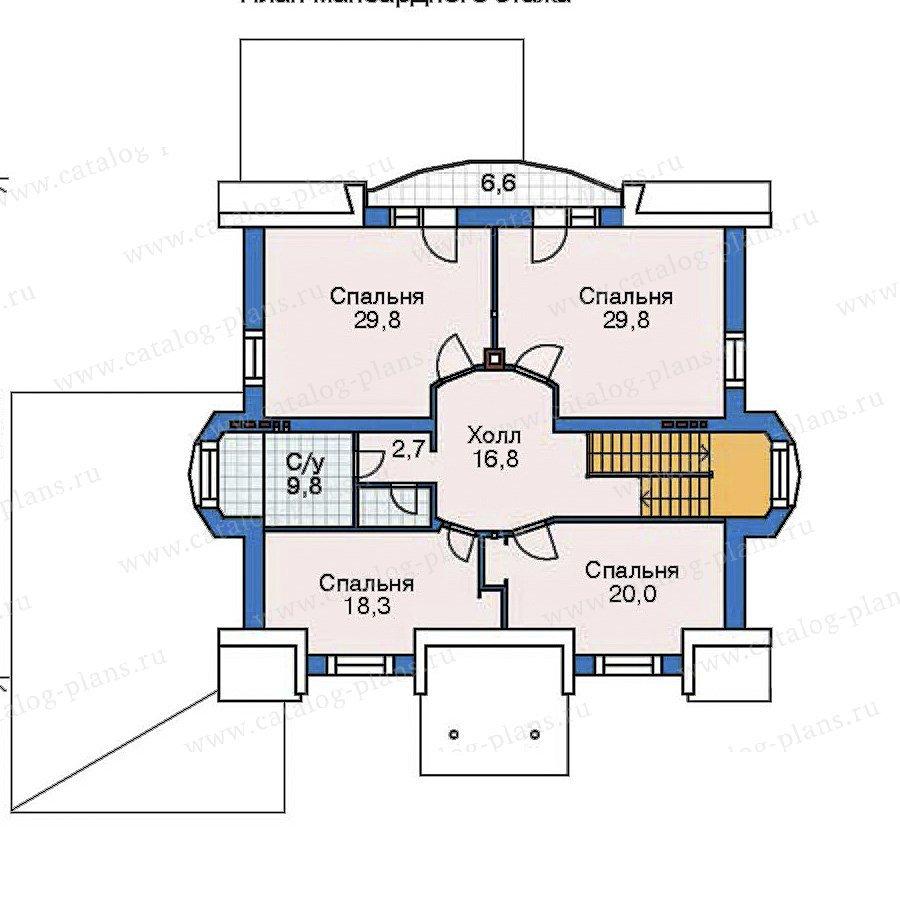 План 3-этажа проекта 35-30