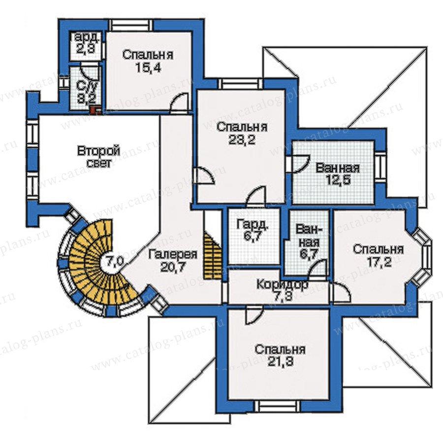 План 2-этажа проекта 35-07