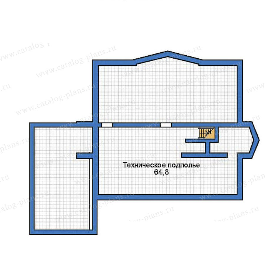 План 1-этажа проекта 35-30