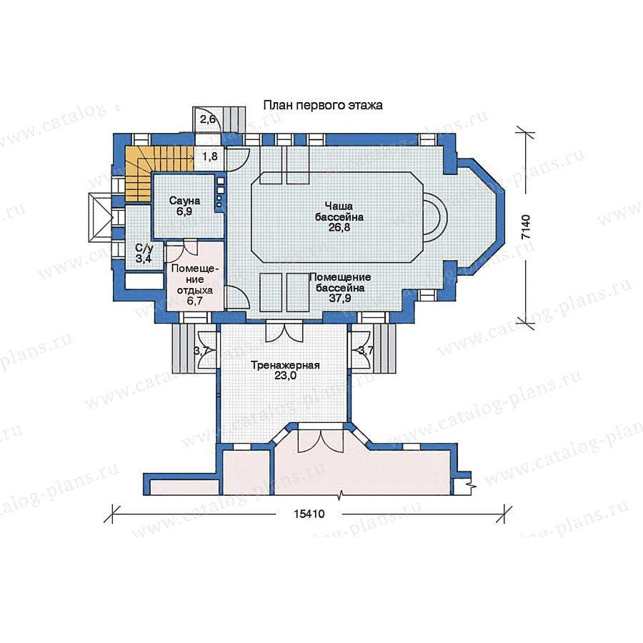 План 2-этажа проекта 35-92