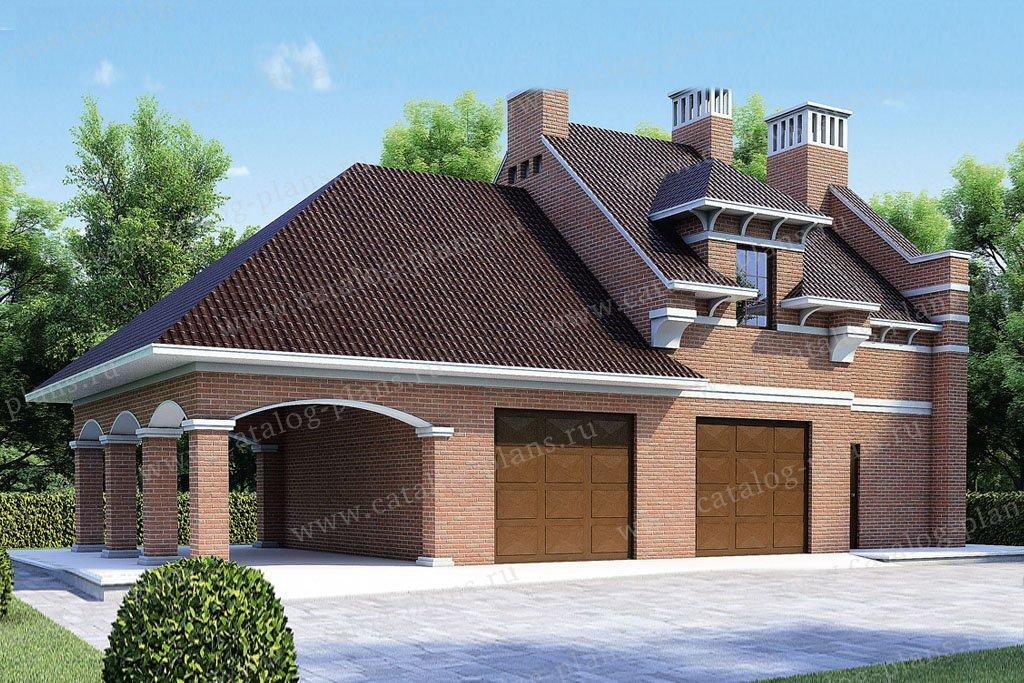 Проект жилой дом #35-66 материал - кирпич, стиль европейский