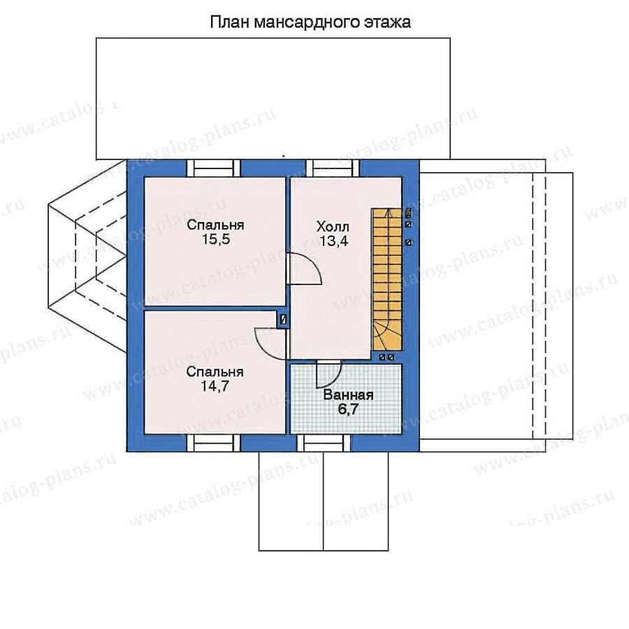 План 2-этажа проекта 35-35
