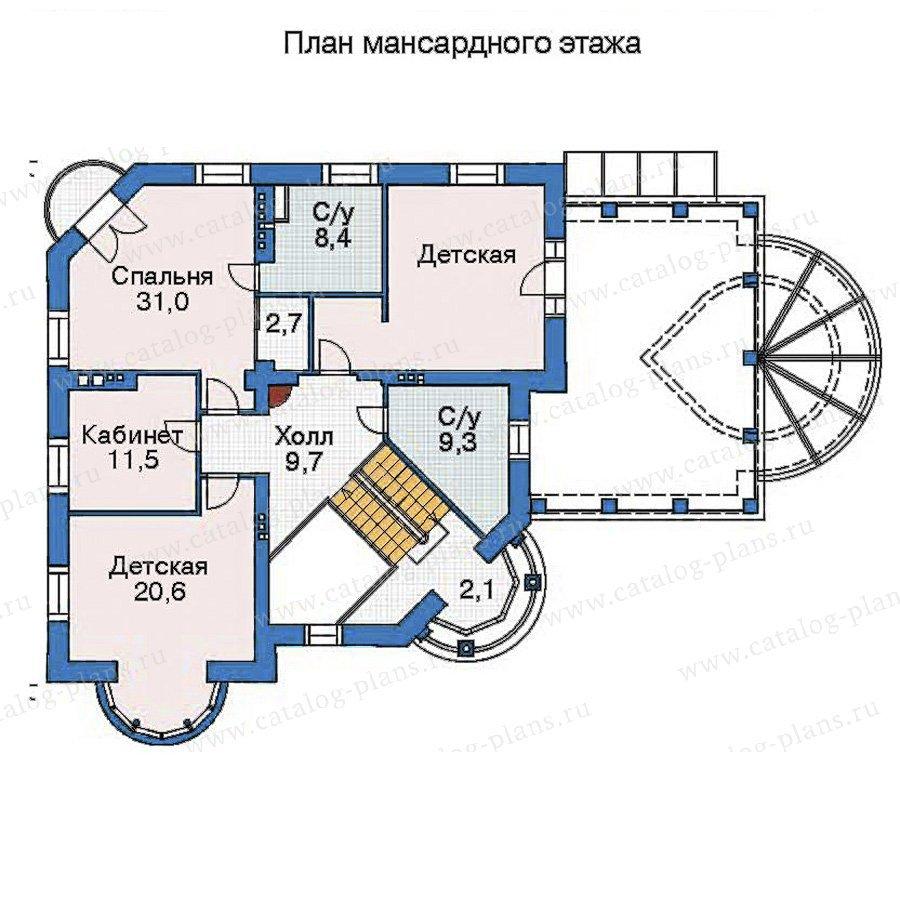 План 3-этажа проекта 35-87