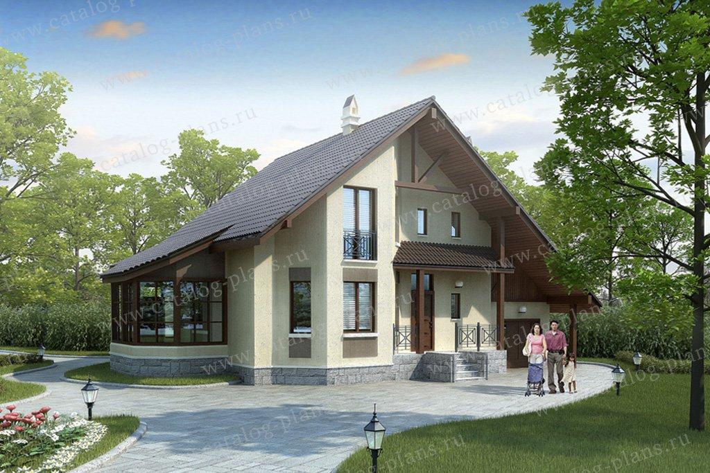 Проект жилой дом #35-73 материал - кирпич, стиль скандинавский