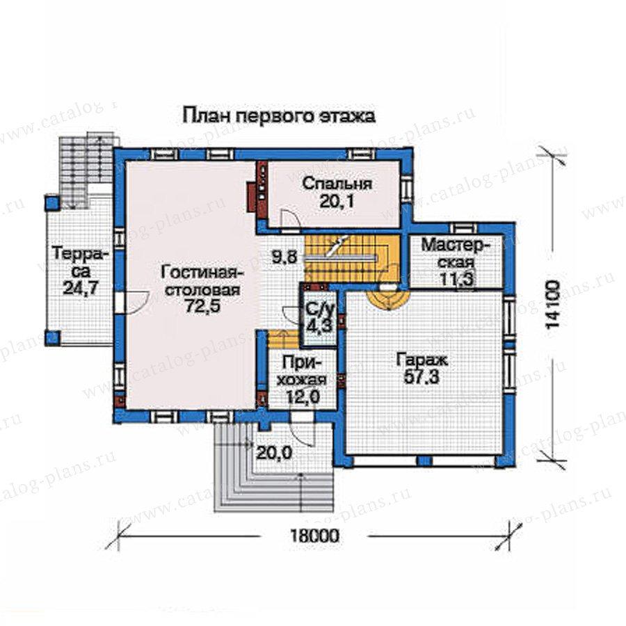 План 2-этажа проекта 35-82
