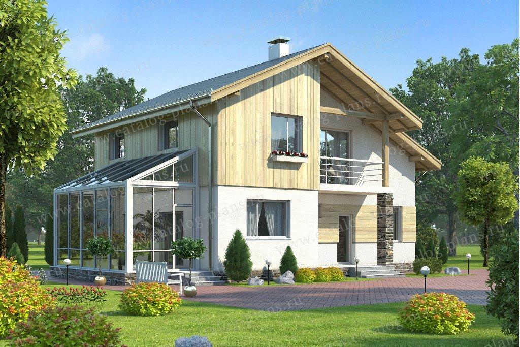 Проект жилой дом #60-22 материал - газобетон, стиль современный