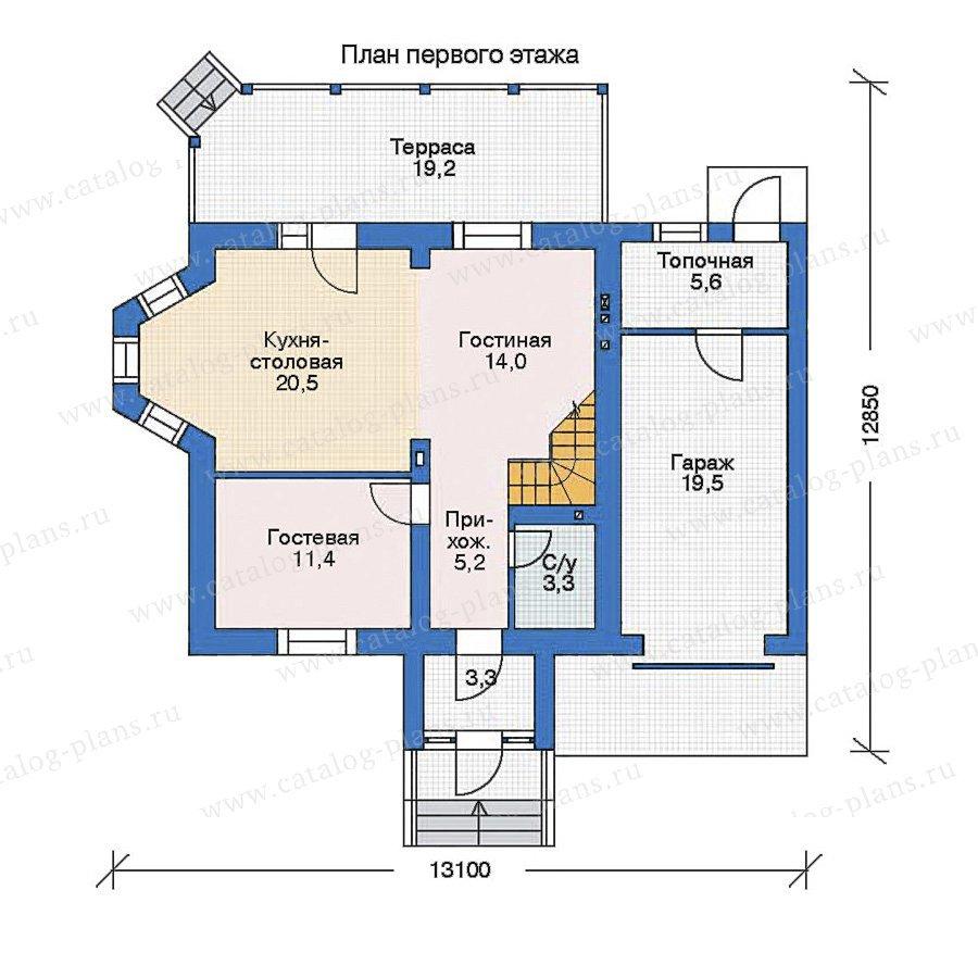 План 1-этажа проекта 35-35