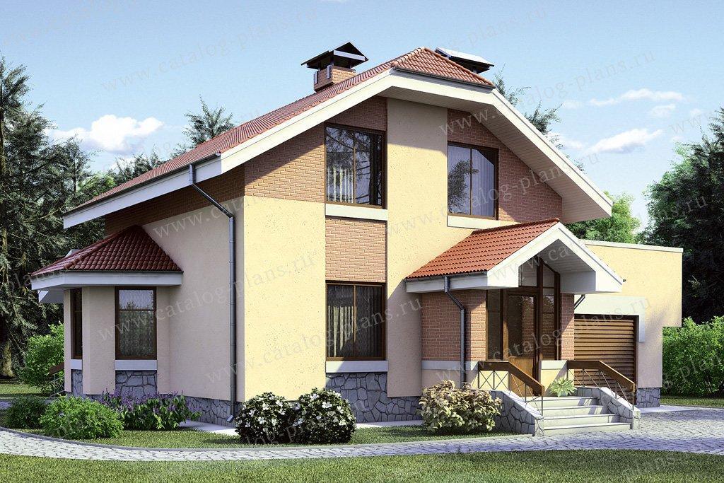 Проект жилой дом #35-35 материал - кирпич, стиль европейский
