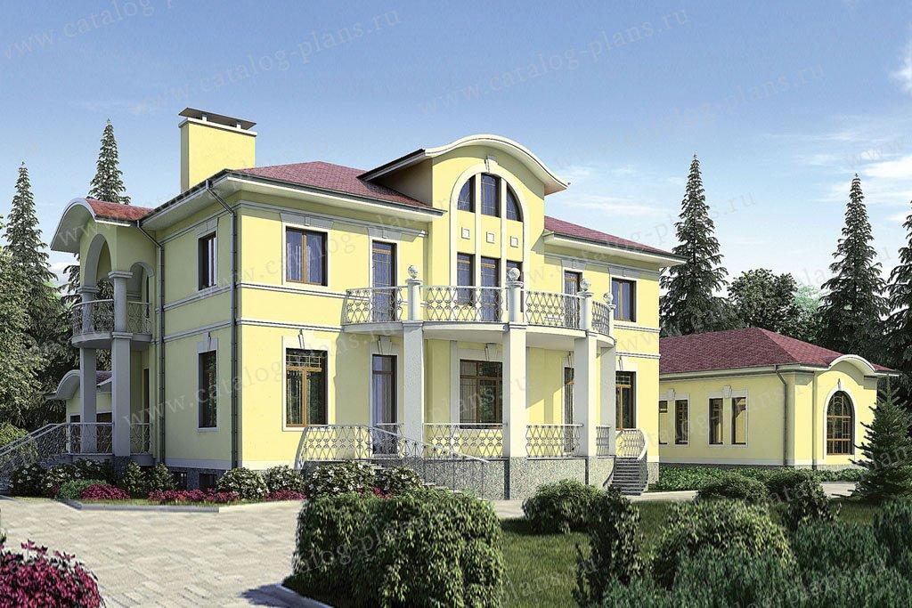 Проект жилой дом #35-85 материал - кирпич, стиль классический