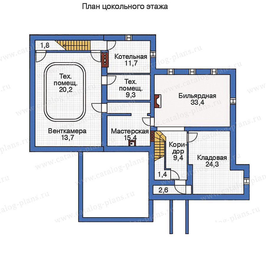 План 1-этажа проекта 35-83