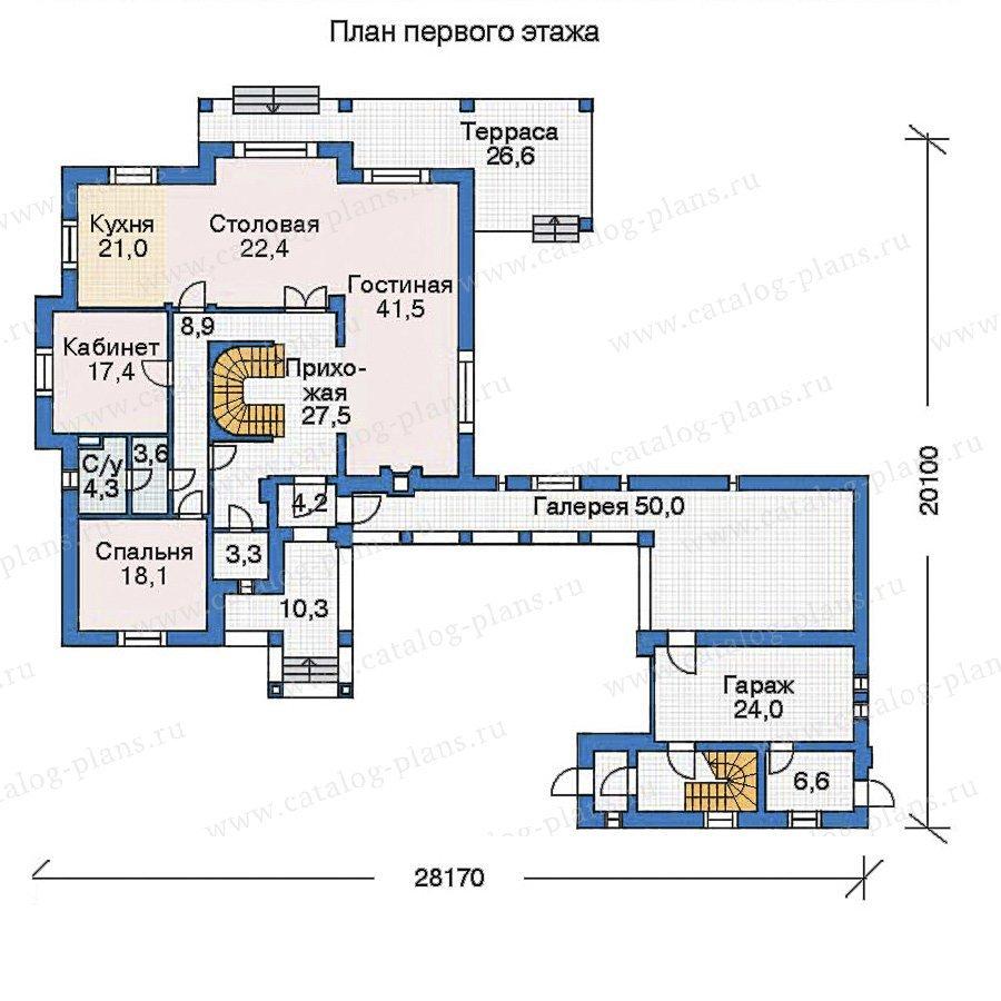 План 1-этажа проекта 35-72