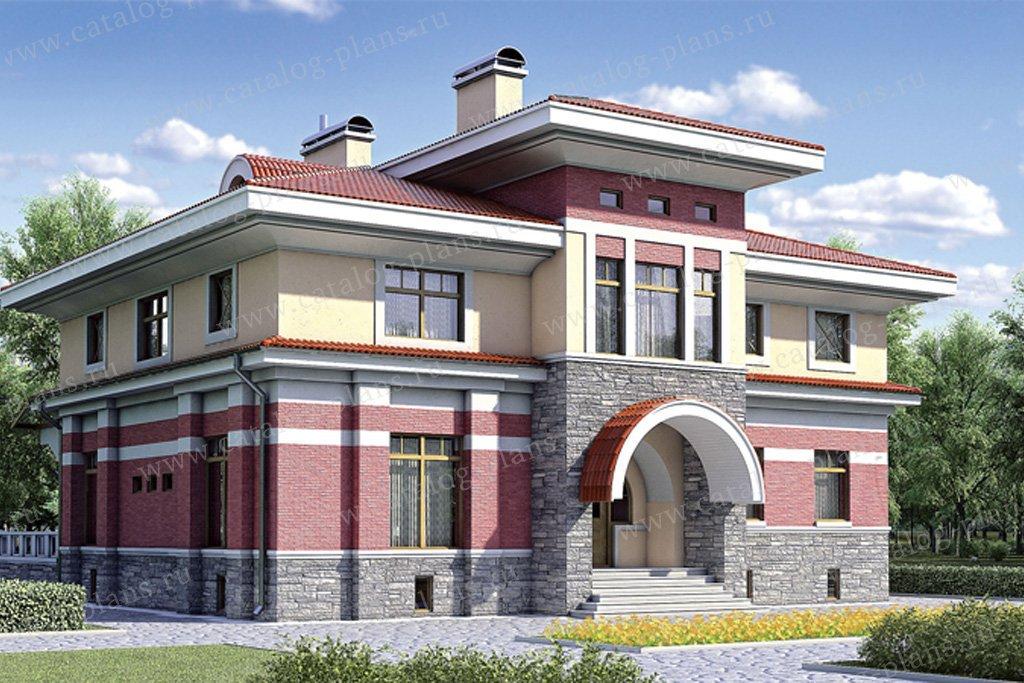 Проект жилой дом #35-21 материал - кирпич, стиль современный