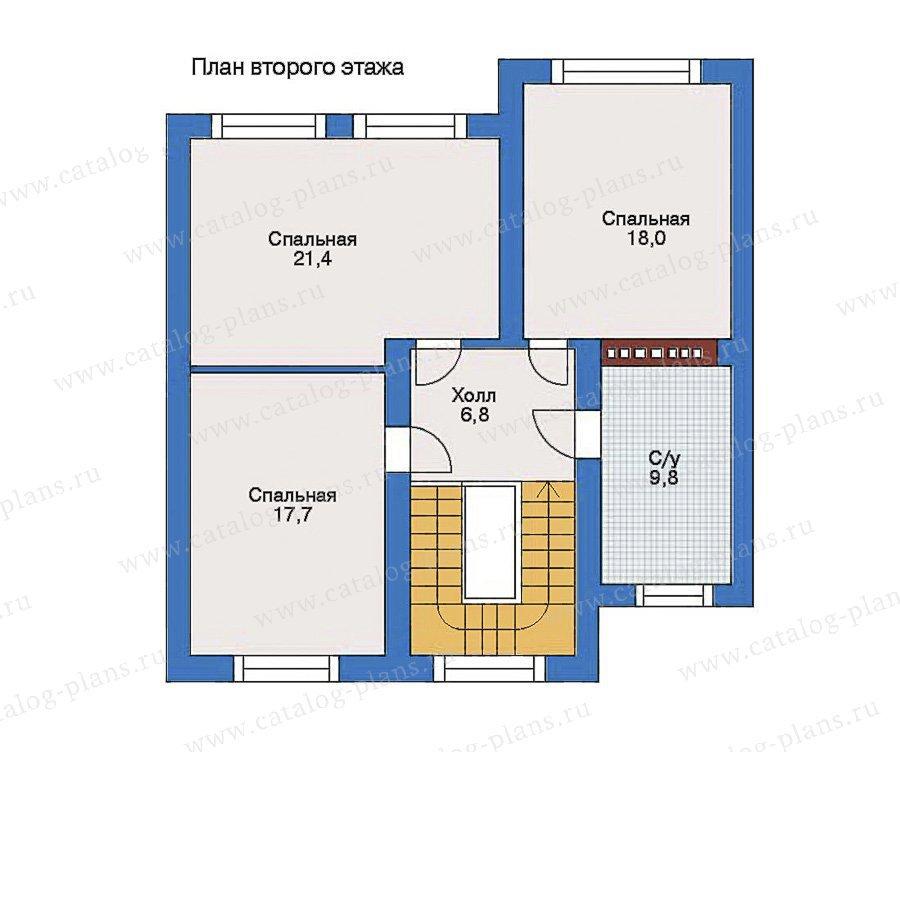 План 2-этажа проекта 34-65