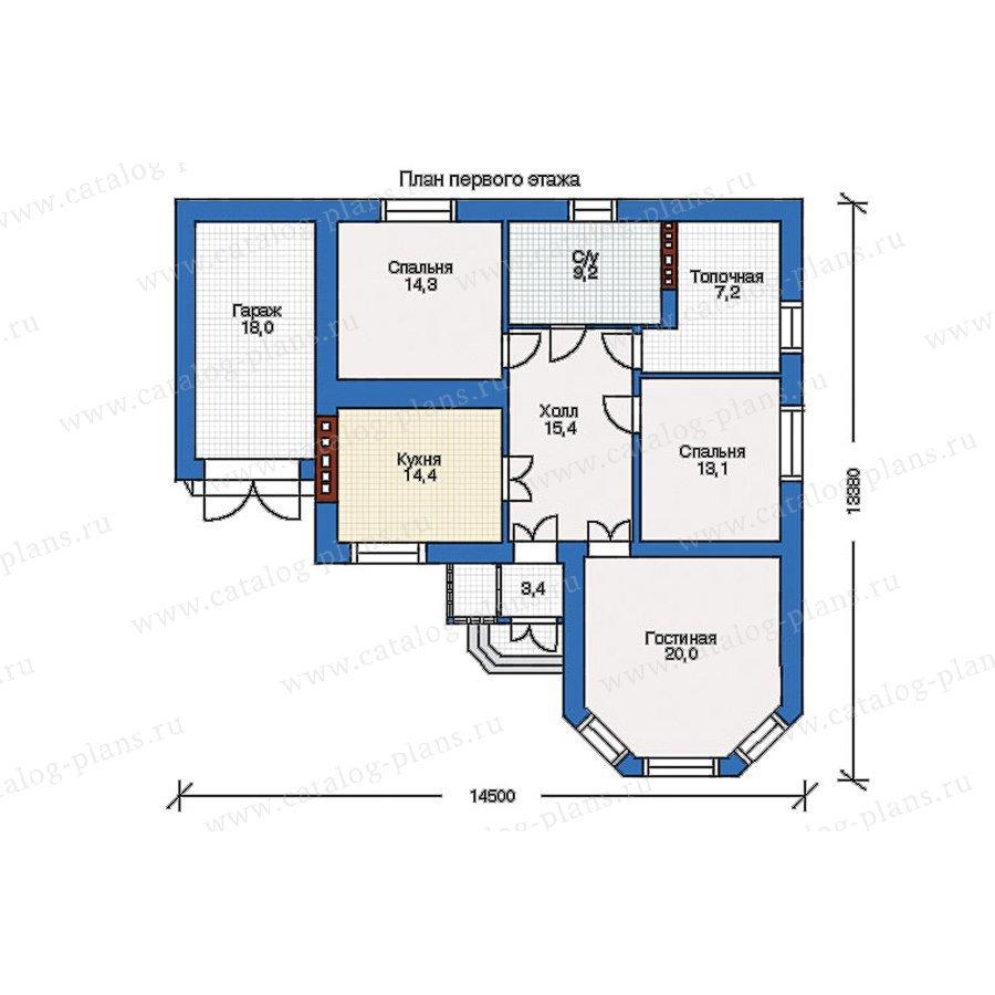 План 1-этажа проекта 34-74