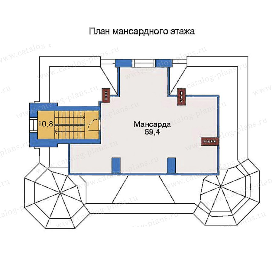 План 3-этажа проекта 34-47