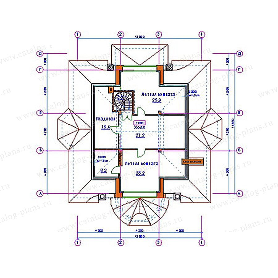 План 3-этажа проекта 34-01