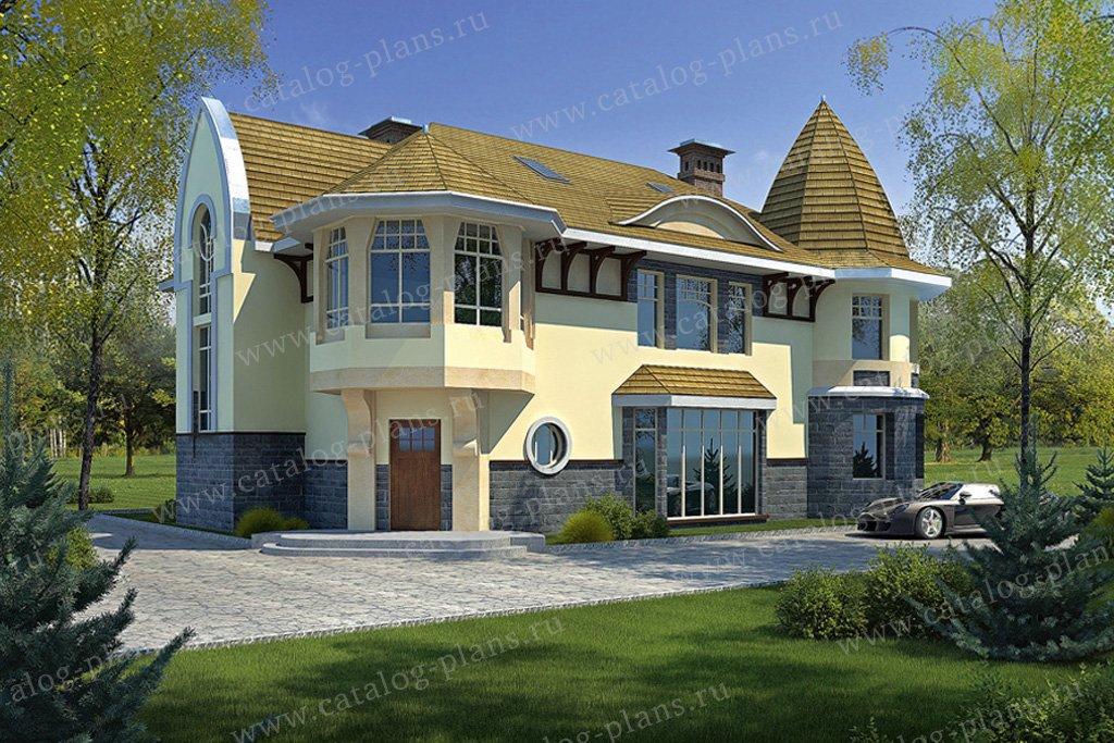 Проект жилой дом #34-47 материал - кирпич, стиль модерн