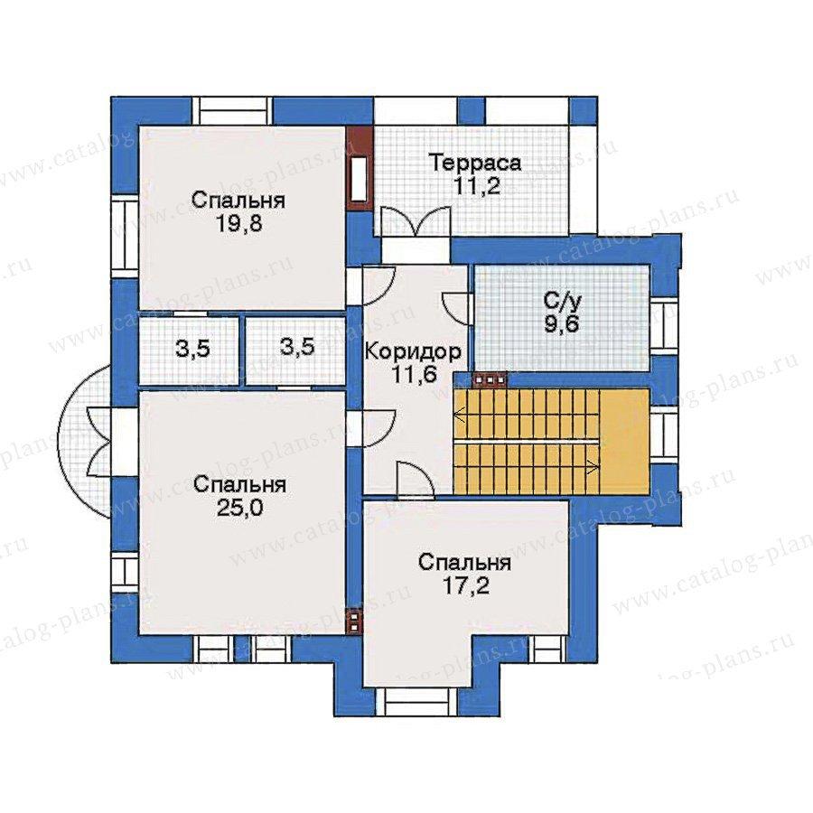 План 3-этажа проекта 34-80