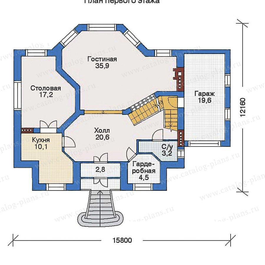 План 2-этажа проекта 34-44