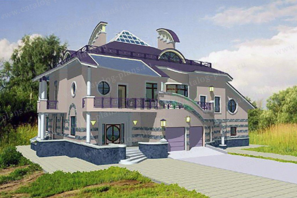 Проект жилой дом #34-19 материал - кирпич, стиль модерн