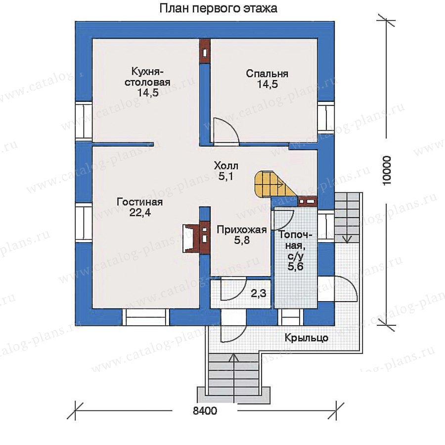 План 1-этажа проекта 34-78