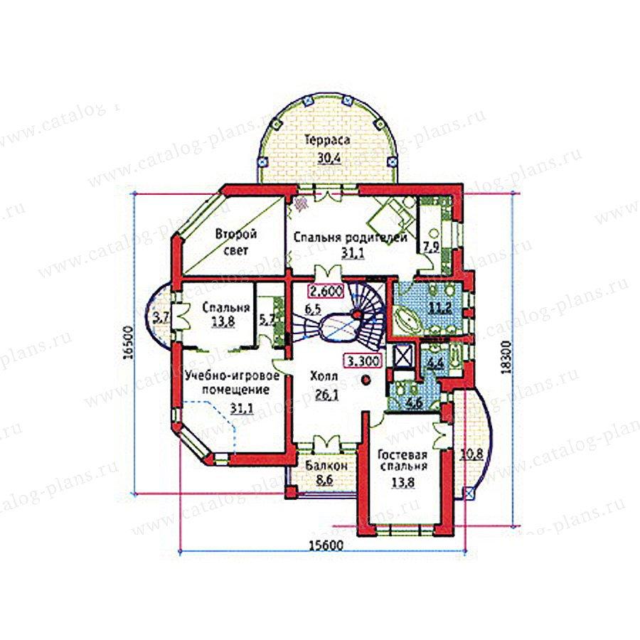 План 3-этажа проекта 34-21
