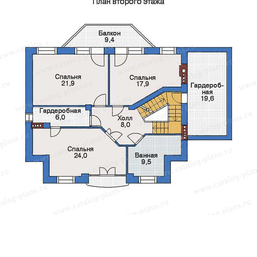 План 3-этажа проекта 34-44