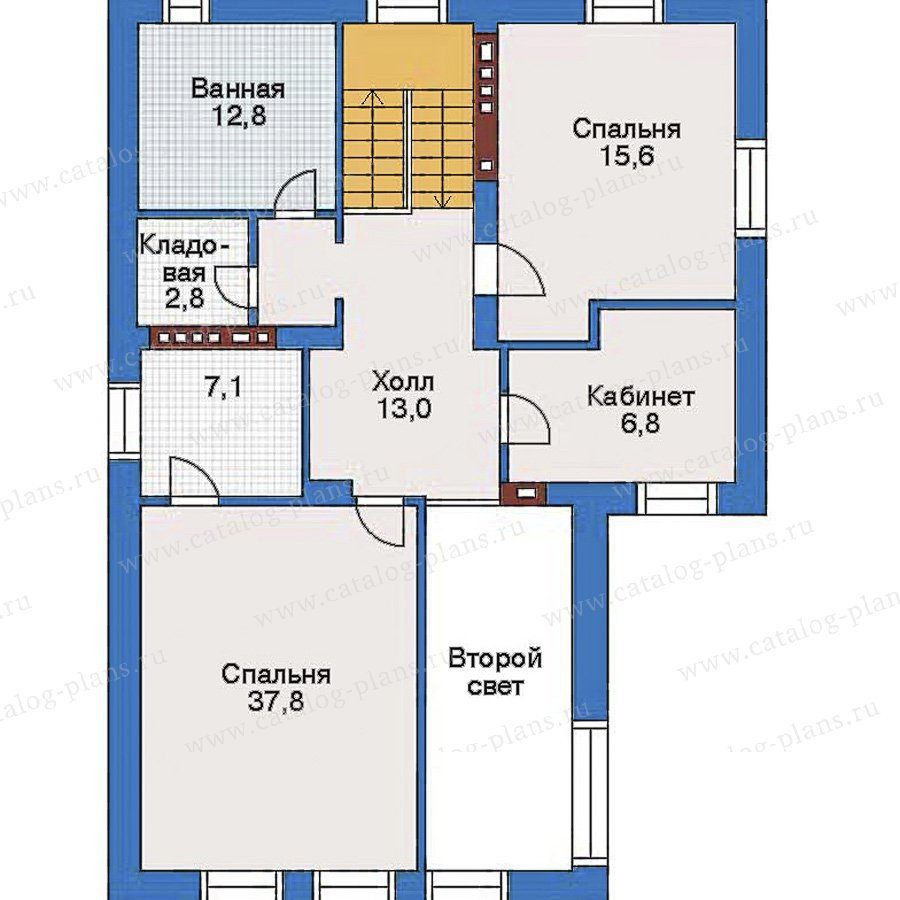 План 3-этажа проекта 34-85