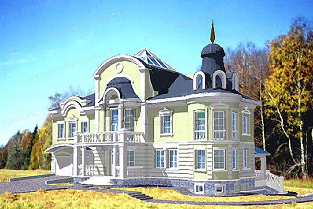 Проект жилой дом #34-16 материал - кирпич, стиль классический