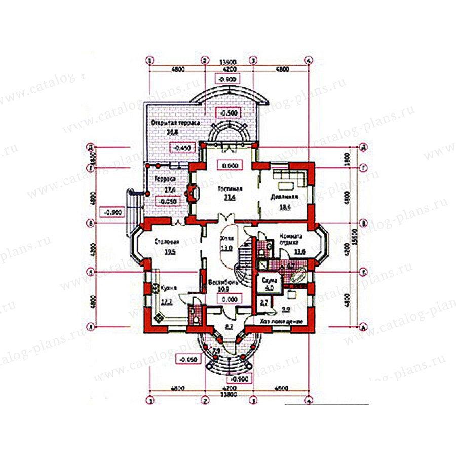 План 1-этажа проекта 34-00