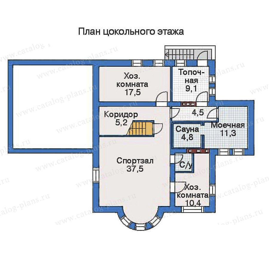 План 1-этажа проекта 34-89