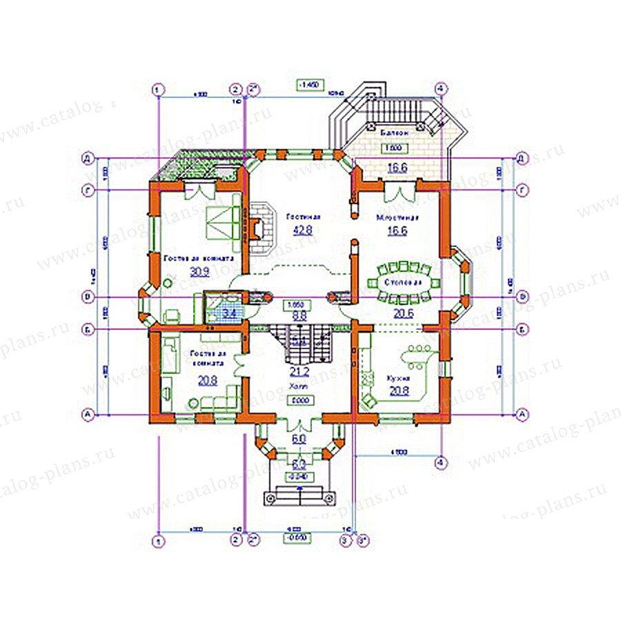 План 2-этажа проекта 34-11