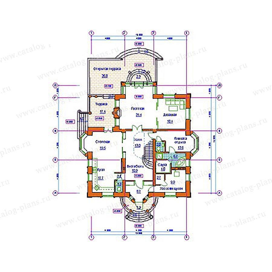 План 1-этажа проекта 34-01