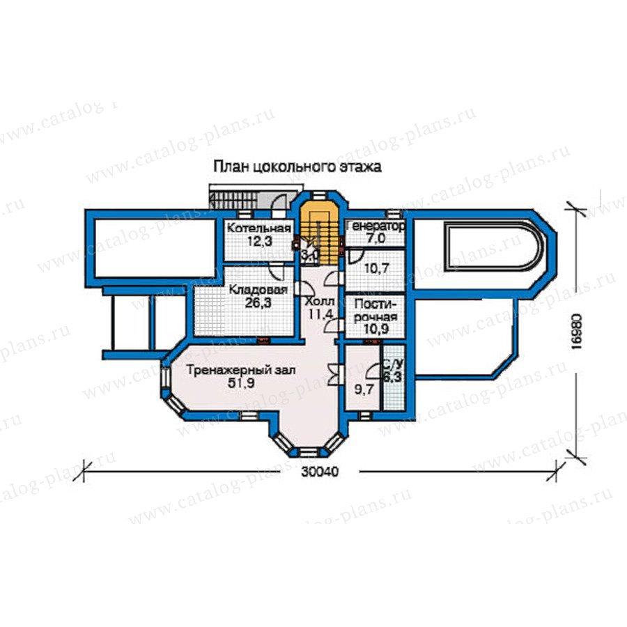 План 1-этажа проекта 34-70