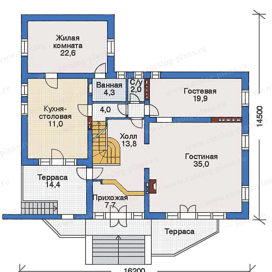 План 2-этажа проекта 34-91