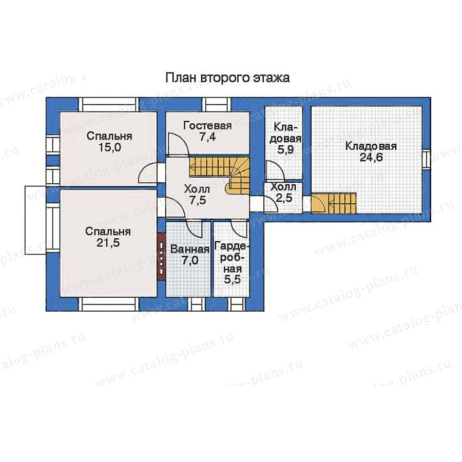 План 2-этажа проекта 34-81