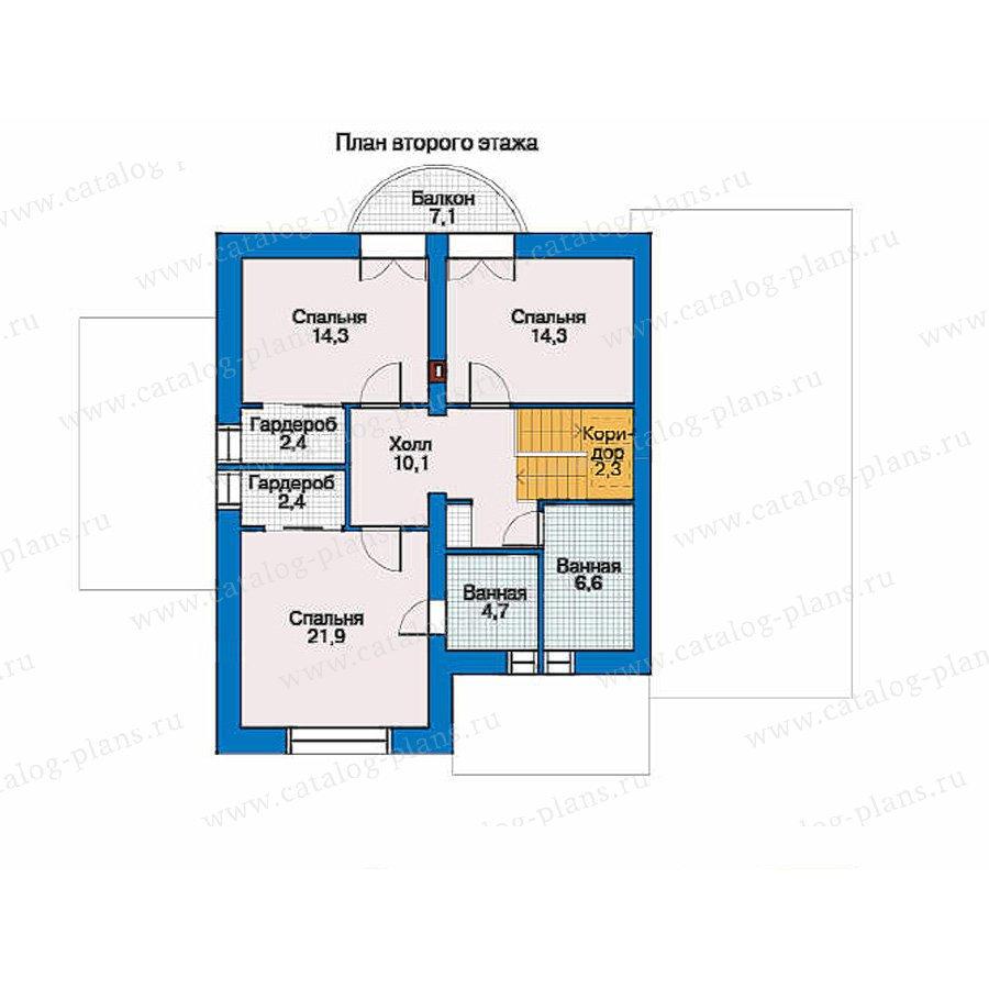 План 2-этажа проекта 34-23