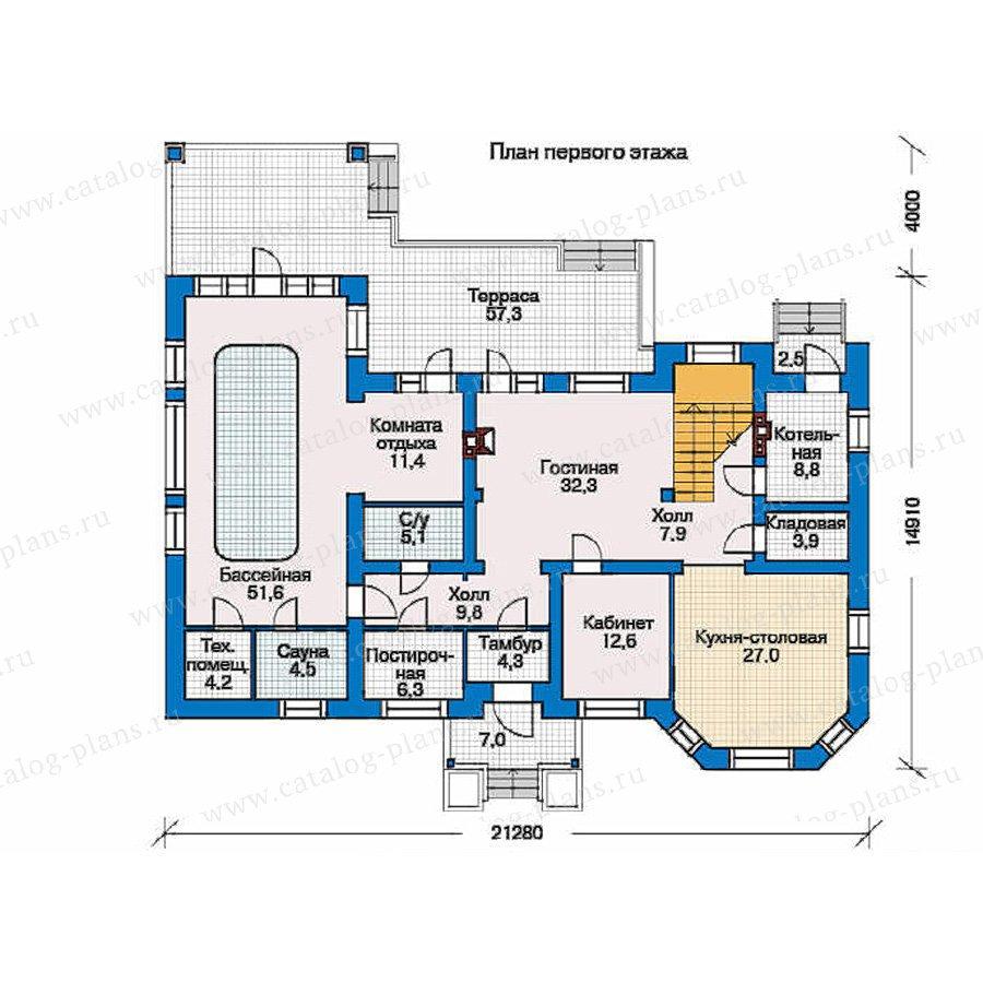 План 1-этажа проекта 34-48