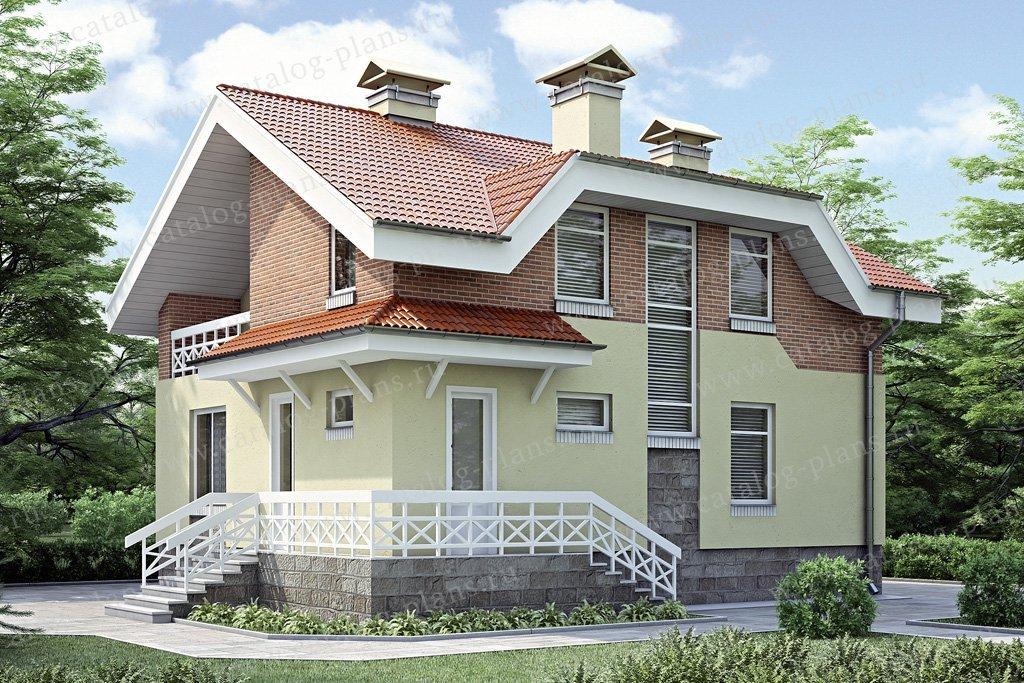 Проект жилой дом #34-78 материал - кирпич, стиль европейский