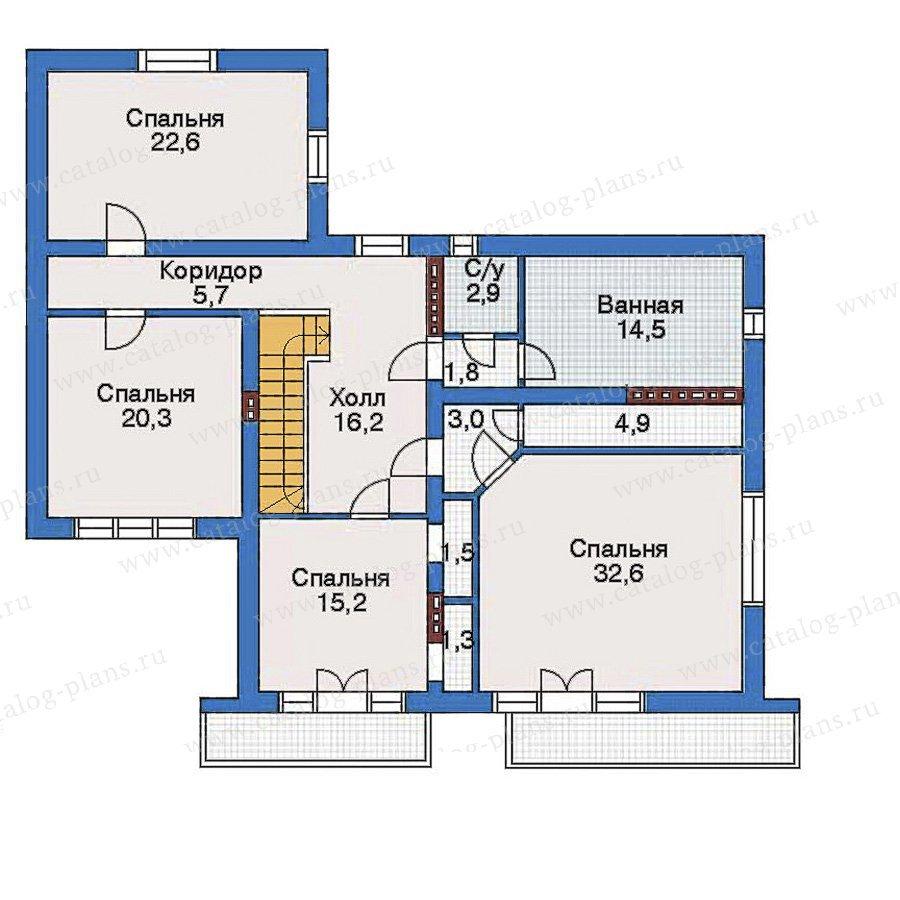 План 3-этажа проекта 34-91