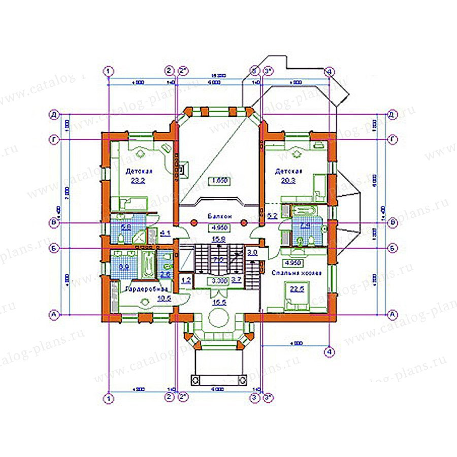 План 3-этажа проекта 34-11