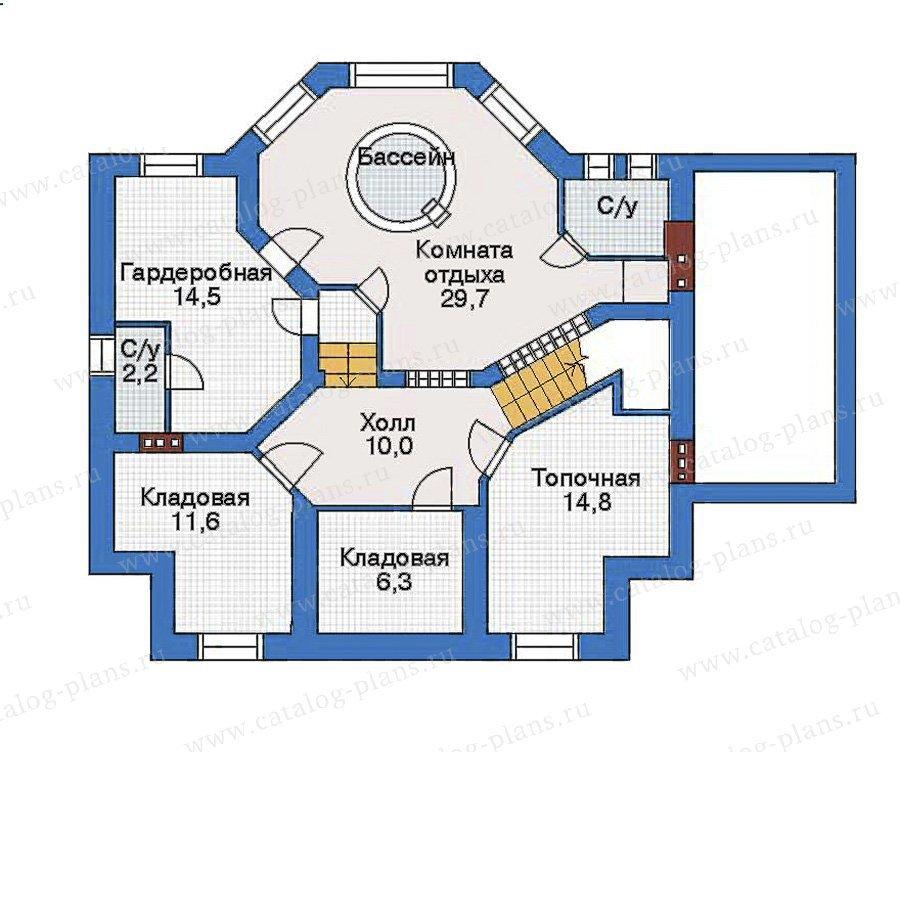 План 1-этажа проекта 34-44