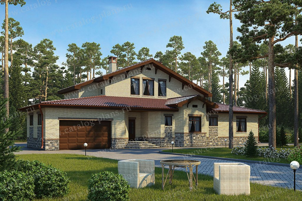 Проект жилой дом #34-71 материал - газобетон, стиль немецкий
