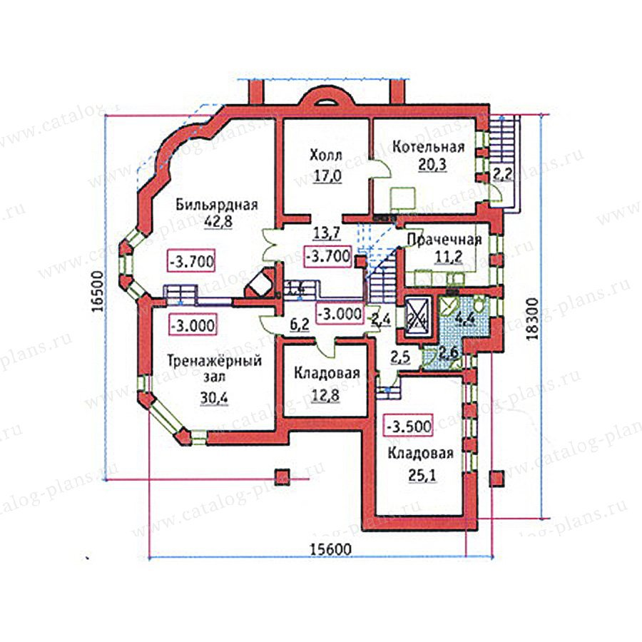 План 1-этажа проекта 34-21