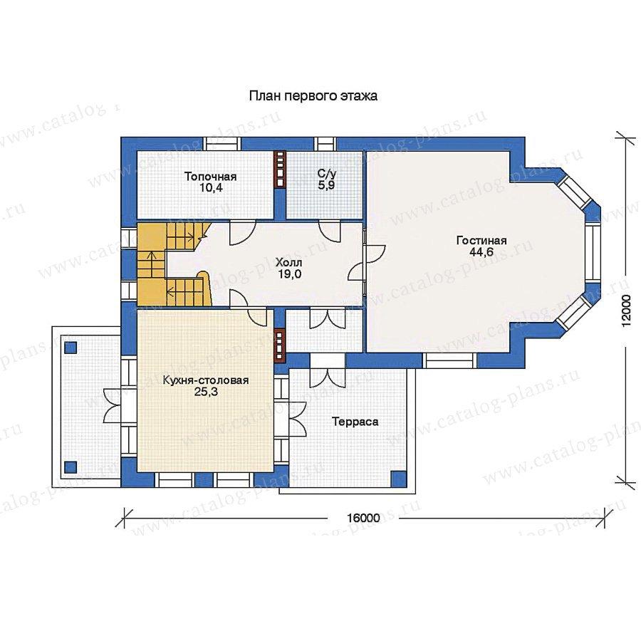План 1-этажа проекта 34-34